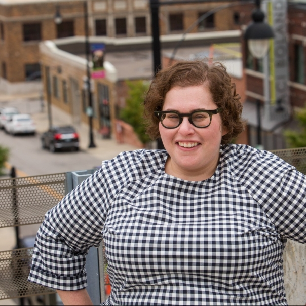 Stephanie Frank location portrait at Film Row